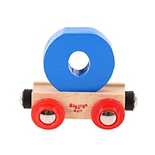 Bigjigs Rail Rail Name Letter O (Colors Vary)