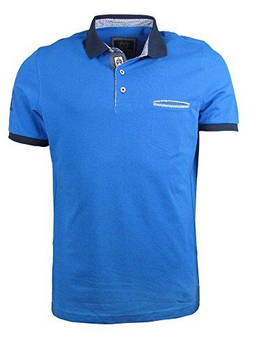 Polo Shirt - Brusttasche - royal