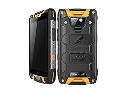 Rugged Smartphone Ip68 Dual Sim 4.5 Inch Andriod 5.1 Quad Core 2gb Ram 16gb Rom (Yellow)