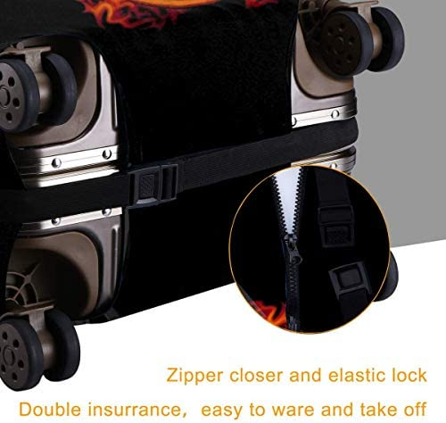 スーツケースカバー キャリーカバー AC DC エーシーディーシー ラゲッジカバー トランクカバー 伸縮素材 かわいい 洗える トラベルダストカバー 荷物カバー 保護カバー 旅行 おしゃれ S M L XL 傷防止 防塵カバー 1枚