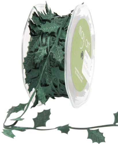 May Arts EX-45 Ribbon, Green Holly Leaves by May Arts