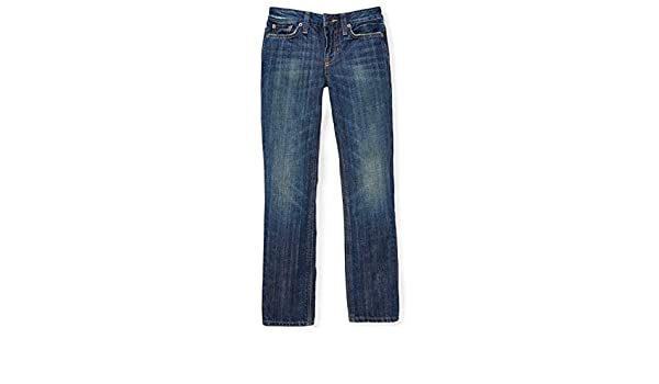 RALPH LAUREN Polo Boys Skinny Denim Blue Jeans Sneg Wash 323575397