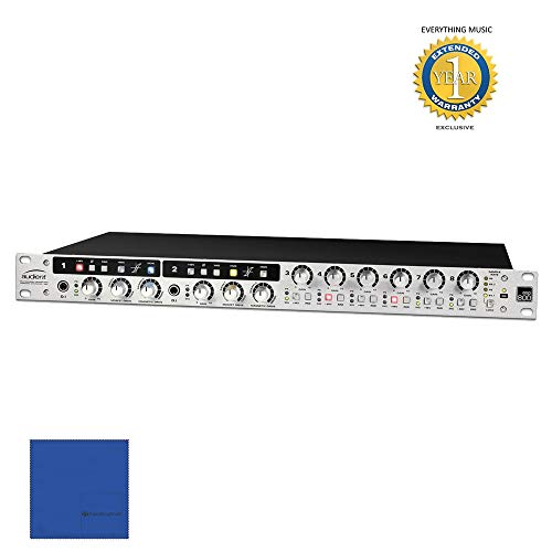 8 Channel Microphone Pre Amplifier - Audient ASP800 8 Channel Microphone Preamplifier and ADC with HMX, IRON & 1 Year Free Extended Warranty