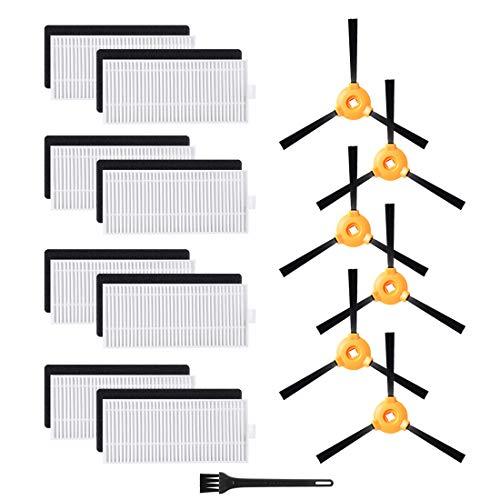 Replacement Parts for DEEBOT N79S Filter, Side Brush Accessory Kit for Ecovacs DEEBOT N79S N79 Robotic Vacuum Cleaner Accessories (Pack of 14)
