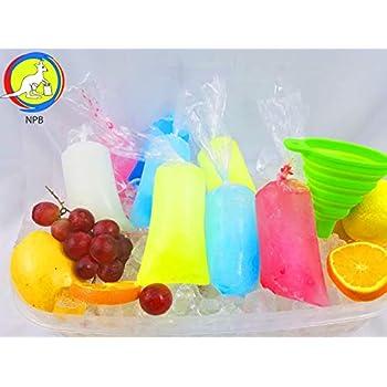 Amazon.com: rosesummer 100 pcs bolsa de hielo POP ...
