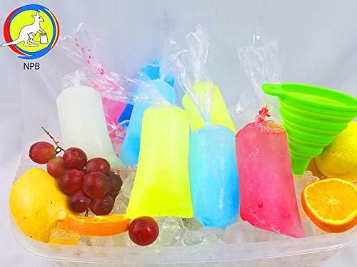 3x10 200 pcs Ice Pop Bags bpa Free /1 Free Funnel and Multipurpose Use/Vikingos/marcianos/bolsas para Bolis de Hielo/Freezen ice Popsicle Bags/ice Candy Bags/Bolsa para charamuscas