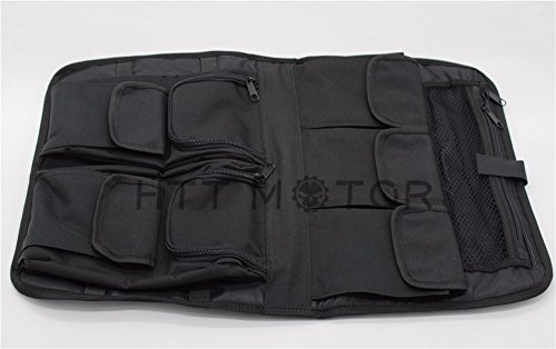 (HTTMT LA03- Tour Pack Lid Organizer Black Compatible with Harley Davidson All)