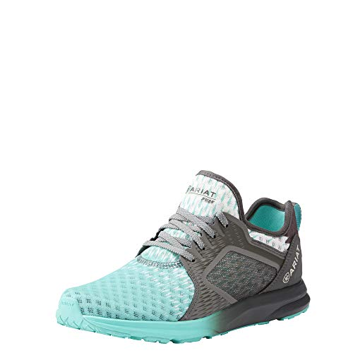 Ariat Women's Fuse Athletic Shoe, Turquoise Gray Ombre Mesh, 9 B US