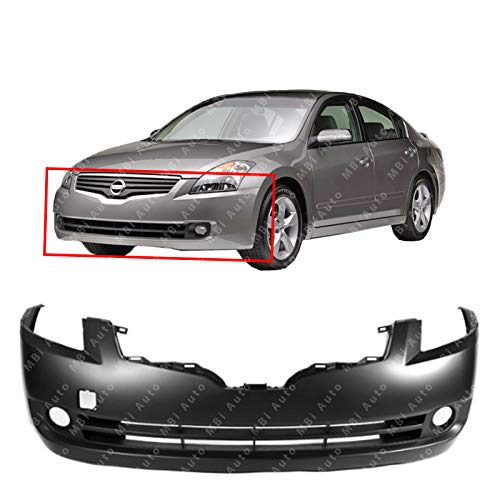 MBI AUTO - Primered, Front Bumper Cover for 2007 2008 2009 Nissan Altima Sedan, NI1000240 (Paint Front Bumper)