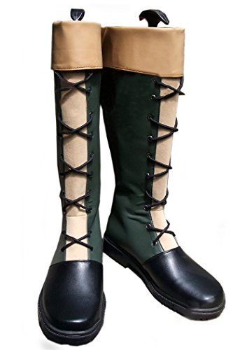 Gon Cosplay Costume (Gon Freecss Cosplay Shoes Knee-High Boots Anime Costume Footwear Female US7)