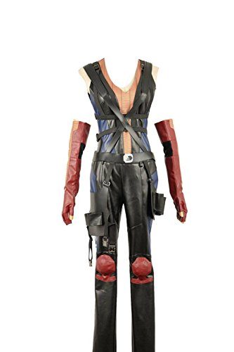 Yejue Deadpool Domino Top Pants Straps Women Black Battleframe]()