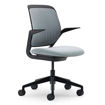 Superieur Steelcase Cobi Fabric Chair, Nickel