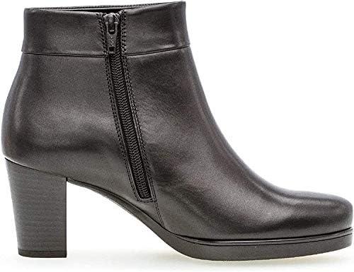 Gabor Women Bootee, Ankle Boot 32.860, Ladies Boots,Ankle Boots,Bootie,Zipper,Schwarz (Micro),42.5 EU / 8.5 UK