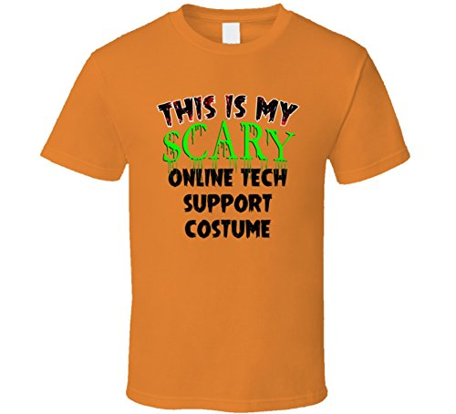 [This is My Scary Online tech support Halloween Costume Trending Job T Shirt 2XL Orange] (Tech Support Halloween Costume)