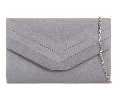 Grey multicolore donna Poschette fi9® giorno Grey qvw6fU