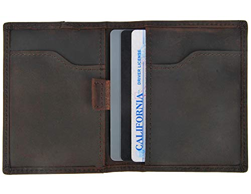 Minimalist Thin Western Wallets For Men Slim Small Front Pocket Leather Rfid Wallet
