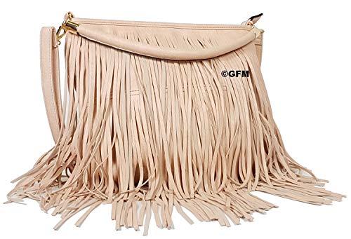 entrada costuras con de bolsa laterales Light de piel GLB Protector ambas 3 bolsa de Pink flecos hombro al suaves 00 Style de GFM cortinas sintética de lote de en cA85wyRqAd