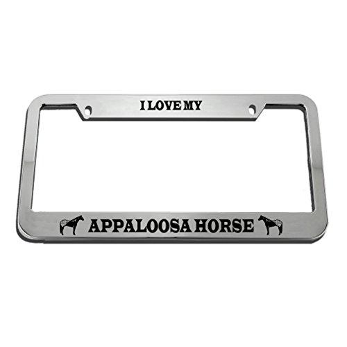 I Love My Appaloosa Horse License Plate Frame