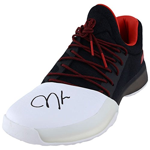 - JAMES HARDEN Houston Rockets Autographed Adidas Black and Red Individual Shoe FANATICS