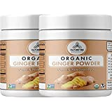 Naturevibe Botanicals Organic Ground Ginger Root Powder - 1lbs ( 2 Packs of 8 Ounces Each ) - Zingiber officinale | Raw, Gluten-Free & Non-GMO