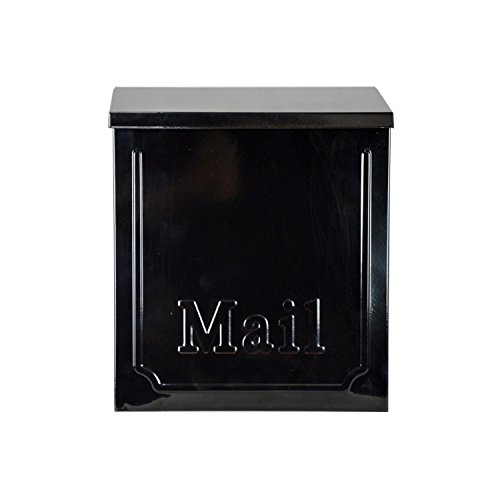 ALEKO USMB-01 Townhouse Wall Mounted Galvanized Steel Powder Coated Heavy Duty Mail Box, Black Color