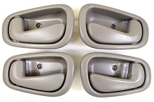PT Auto Warehouse TO-2543G-QP - Inside Interior Inner Door Handle, Gray - Manual Lock, 2 Left, 2 Right