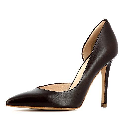 scuro Shoes donna col Alina Scarpe tacco Marrone Evita dpgW0q1wx0