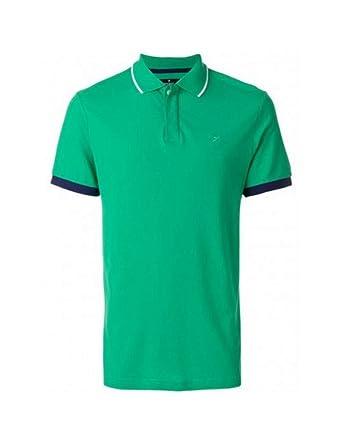 Hackett - Polo Hombre Hackett Color Verde Contraste Azul en la ...