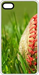 Baseball Laying On The Grass Field White Plastic Case for Apple iPhone 5c
