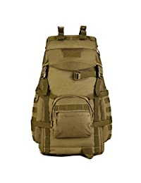 Wowelife 60L Tactical Molle Backpack/Military Rucksacks/Army Backpack/hunting backpack/Military Bag for Hunting Shooting Camping Hiking Trekking
