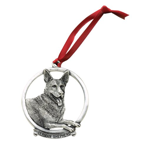 - Heritage Pewter German Shepherd Ornament