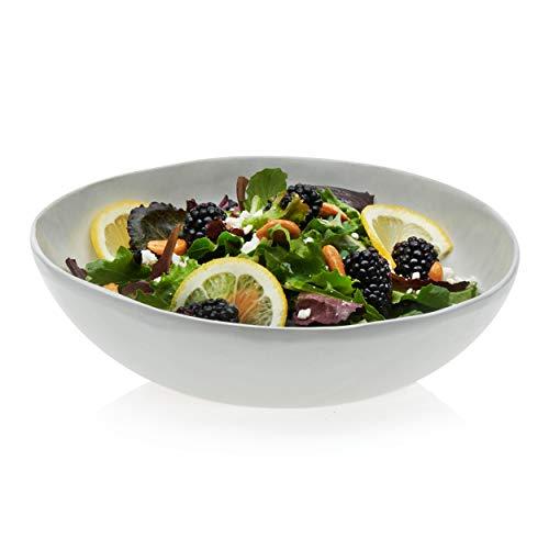 Prologue Drift Handmade Medium Ceramic Dinner Bowls, White, Set of -