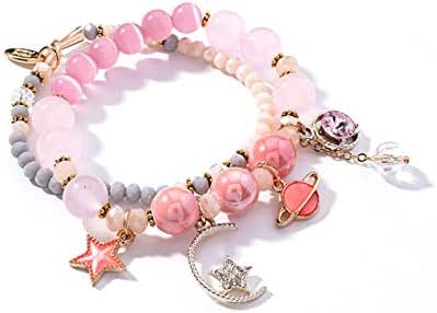 Star Moon Cat Eye Crystal Multi-layer Beaded Bracelet Fashion Bracelet