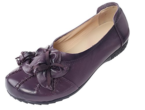 Shoes Women's Flower Fall Pattern Style purple New Flat Mordenmiss 4 AYg1xwqUg