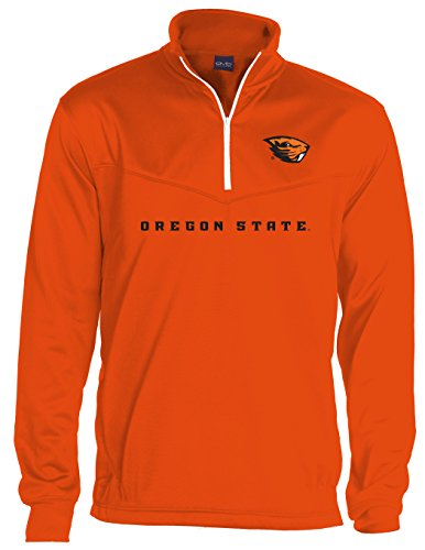 NCAA Oregon State Beavers Quarter Zip Poly Fleece, Large, Beaver Orange
