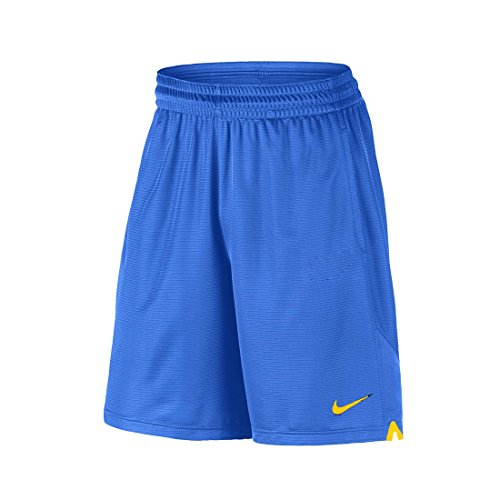 NIKE Authentic Collection Knit Shorts (Medium, Game Royal/Sundown/Sundown)
