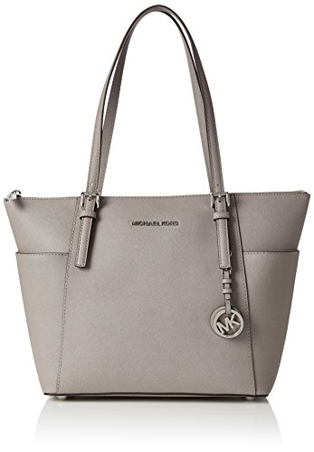 Michael Kors Jet Set East West Top Zip Tote in Pearl Gray ()