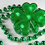 St Patrick Lighted String Shamrock Necklace -3 Different Light Modes Day Decorations