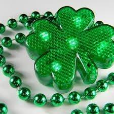 Lighted String Shamrock Necklace -3 different light modes St. Patricks Day - Sale Macy's Iron