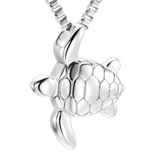 Sea Turtle Cremation Urn Necklace Memorial Ashes Keepsake Jewelry Urns for Human Ashes by Fantasyland Jewelry