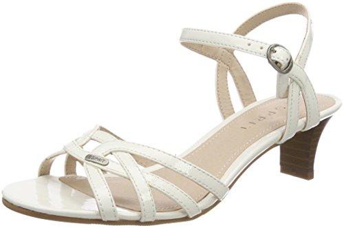 Birkin, Sandales Bride Cheville Femme, Blanc (White), 37 EUEsprit