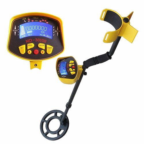Popsport MD-3010II Metal Detector Gold Digger Metal Detector Fully Automatic Gold Detector Waterproof with LCD Display for Detecting Metal Objects (MD-3010II Metal Detector)
