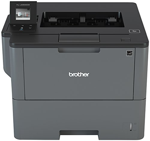 Brother Monochrome Laser Printer, HL-L6300DW, Wireless Networking, Mobile Printing, Duplex Printing, Large Paper Capacity, Cloud Printing, Amazon Dash Replenishment Enabled ()