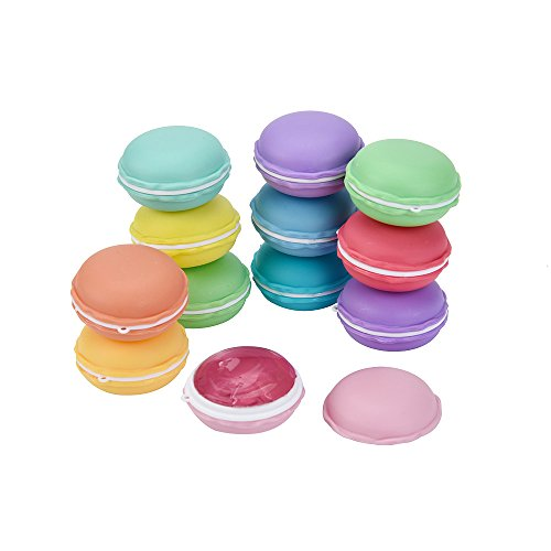 Macaroon Simple (Fluffy Slime,Yamally_9R 12Pcs Fluffy Slime Supplies Colorful Squishies Macaroon Squishies Fluffy Floam Slime Scented Stress Relief Toy for Kids, Super Soft Macaroon Charms Non Sticky Hand Gum Toy)