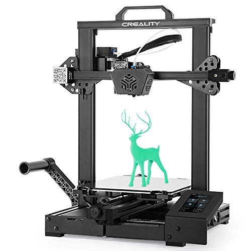 Creality CR-6 SE Leveling-free 3D Printer with 32 Bit Silent Motherboard, Auto Bed leveling, Upgraded Extruder Build Volumn 235x235x250MM 2020 Newly Released