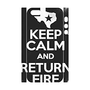 AKERCY Keep Calm And Return Fire Phone 3D Case For iPhone 5,5S [Pattern-5]