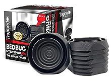 Trapbedbugs Bed Bug Interceptors - Bedbug Traps and Detectors for Bed 8 Pack - Bugs Detector Trap System for Beds - Climb Up Prevention Interceptor Cups - No Pesticides, Chemicals Or Powder – Black