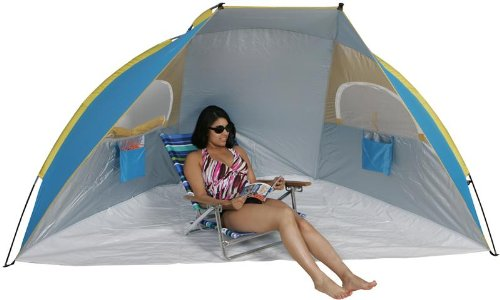 Portable Beach Cabana Tent Sun Shelter 50 SPF w/ Carry bag  sc 1 st  Outdoor Stuffs & Portable Beach Cabana | Sun Shelter Beach Tent Cabanas 50 SPF