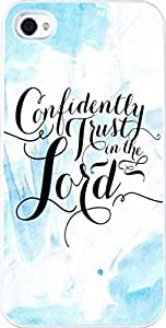 Case for Iphone 4S, Iphone 4 Case Christian Quotes Bible Verses Confidently Trust In The Lord