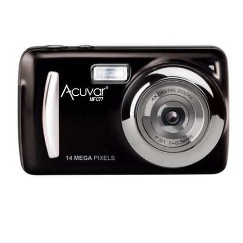 Acuvar 14MP Megapixel Compact Digital Camera and Video with 2.4″ Screen with Easy Editing Software CD